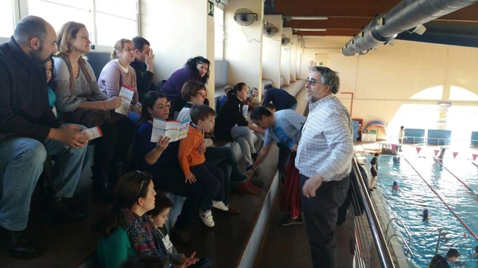 Familias de dárata, en el Club Natación de Almería