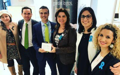 Placa de Reconocimiento Bankia y Autismo Dárata