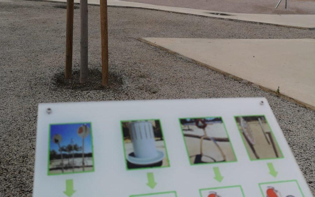 Pictogramas en el Parque de las Familias en Almería Capital