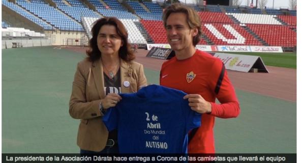La UD Almería concienciando el 2 de Abril Día Mundial sobre la Concienciación del Autismo